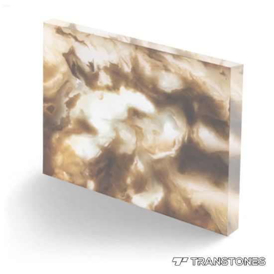 Transtones New Material Translucent Alabaster Sheet for Table Top