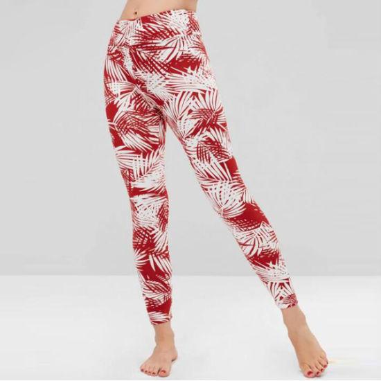 OEM Athletic Pants Sublimation Printing Lycra Yoga Pants