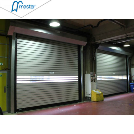 Logistics Sound Proofing PU Foam Spiral High Speed Hard Fast Roller Doors