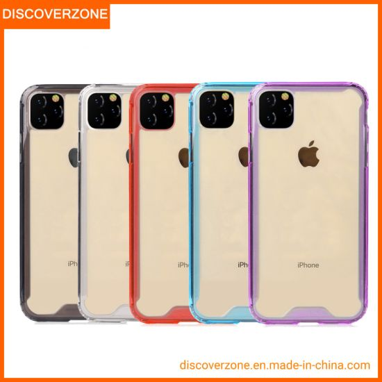 1.5mm PMMA Mobile Phone Case Anti-Fall TPU Phone Case for iPhone11/11PRO/11PRO Max