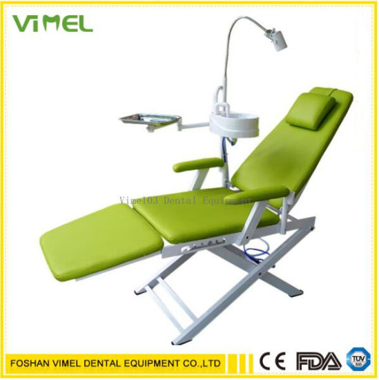 Folding Chair Portable Dental Chair with LED for Dentist Clinic pictures & photos