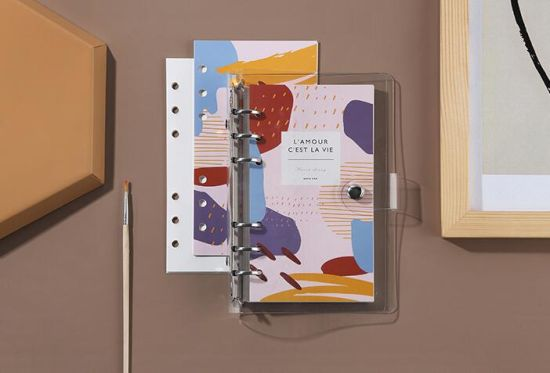 High End Low MOQ Free Sample A5 Transparent Hardcover Notebook