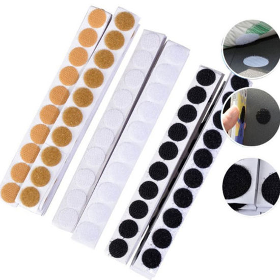 2019 Hot Sale 10-100mm Diameter Customized Die Cut Strong Adhesive Hook and Loop DOT Hook and Loop Coin