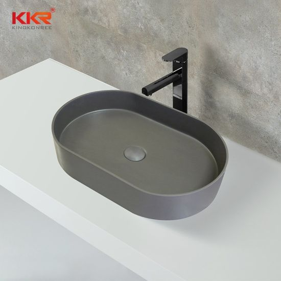 Modern Bathroom Resin Stone Wash Basin Sink with Different Sizes