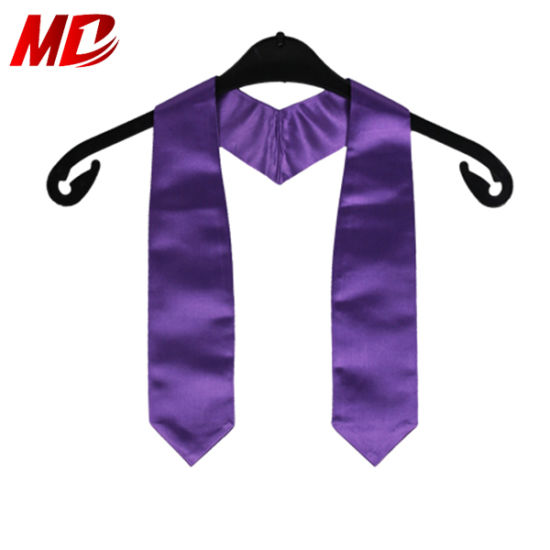 Children Wholesale Graduation Plain Latest Stole Purple