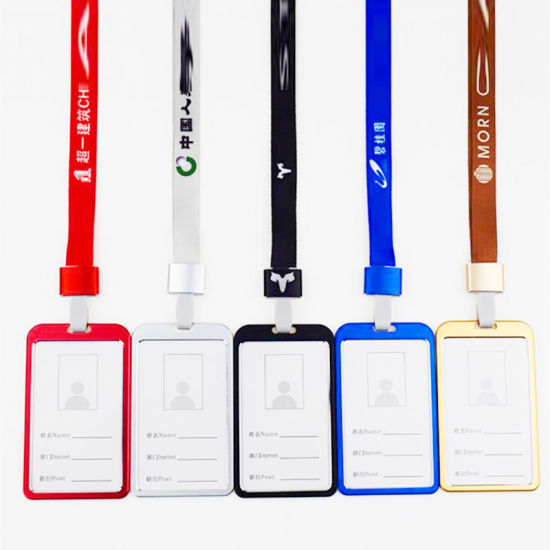 Colorful Metal Alloy Aluminum Work Name Card and ID Card Badge Holder
