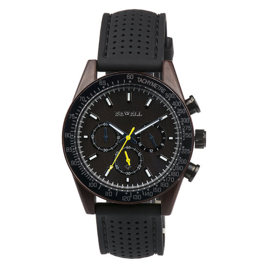 Customized Watch Wooden Case and Plastic Silicon Strap Bewell Watch