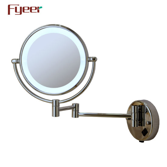 Fyeer Ultra Thin Wall Mounted Foldable LED Bathroom Makeup Mirror pictures & photos