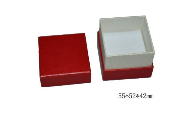 Red Rigid Cardboard Gift Paper Packaging Ring Jewelry Box