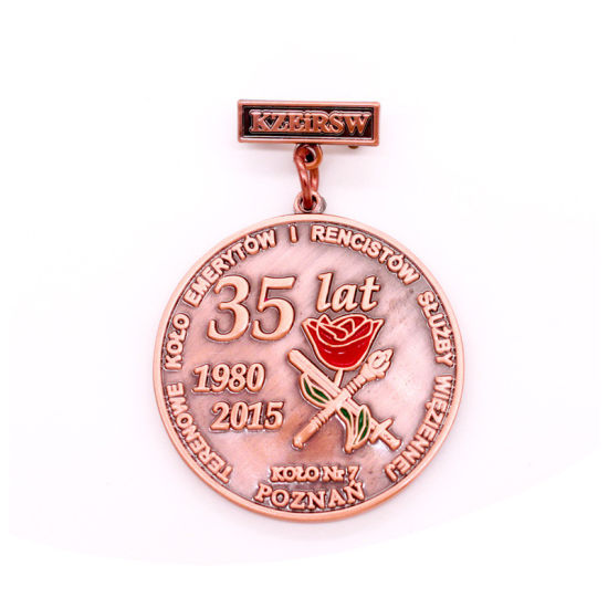 Anniversary Commemorate Army Police Badge From China Metal LED Magnetic