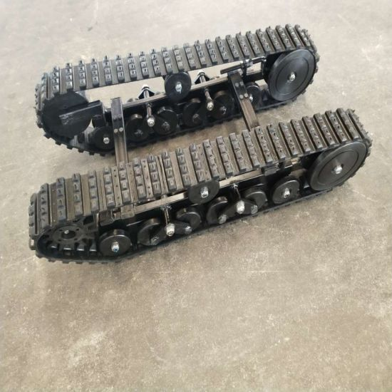 snow plowing robot machinery parts-rubber track chassis DP-BGM-100 pictures & photos