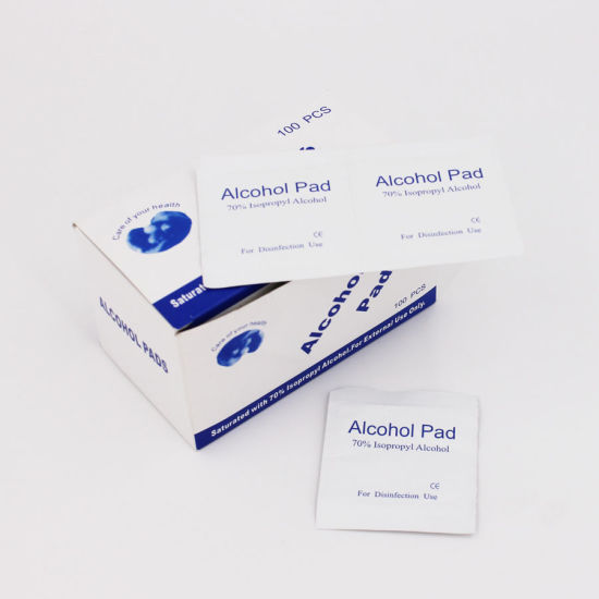 Disposable Medical 70% Isopropyl Alcohol Pad pictures & photos