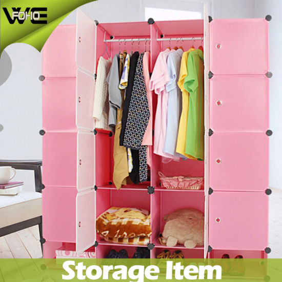 China Furniture Closet Plastic Cheap Bedroom Storage Wardrobes ...
