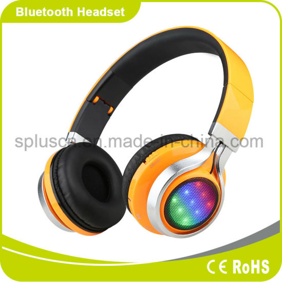 Headband LED Music Stereo Bluetooth Headphone with Outstanding Sound Quality pictures & photos
