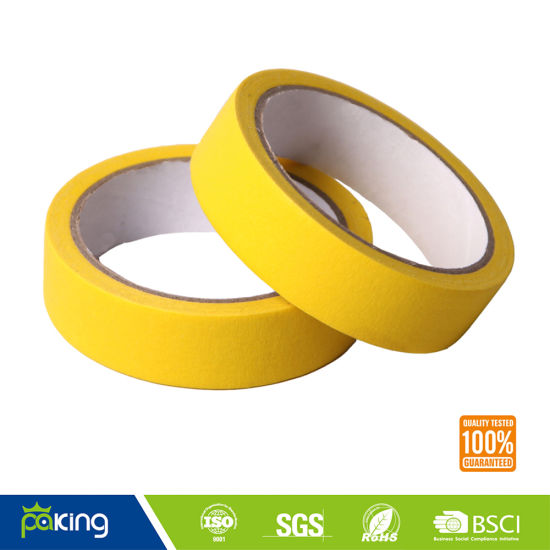 High Quality Light Yellow 24mm Masking Tape pictures & photos