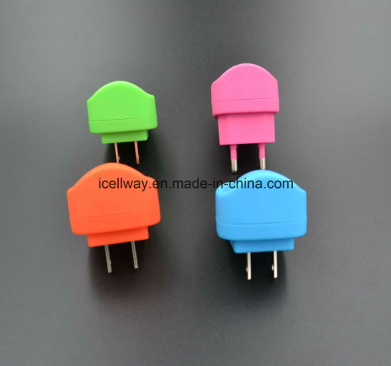 Colorful USB Travel Charger for Smart Phone for iPhone for Huawei pictures & photos