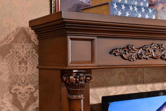 Home Furniture TV Stand Sculpture MDF European Electric Fireplace (326B) pictures & photos