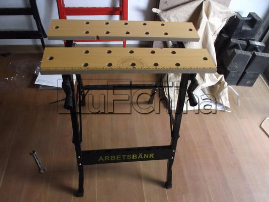China Height Adjustable Aluminium And Steel Workbench Bench Top