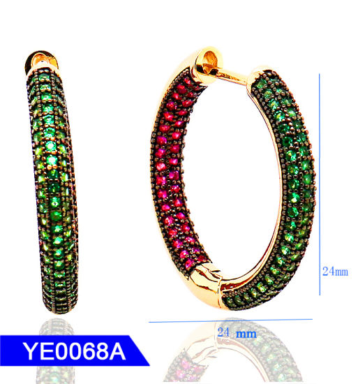 7df58537f New Design Fashion Jewelry 925 Sterling Silver or Brass Cubic Zirconia Large  Hoop Earrings for Women. Get Latest Price