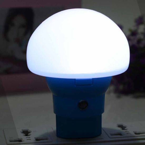 Wireless Bed Lamp EU Plug Mushroom Shape LED Night Light