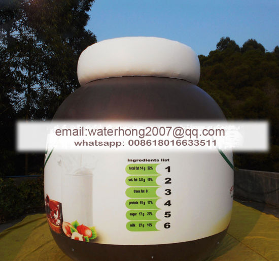 Promotion Display Inflatable Jar Bottle Flying Balloons Inflatable Jar pictures & photos