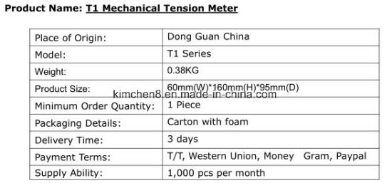 Yokogawa Tension Meter/Mechanical Tension Meter T-101-50 for Yarn Copper Wire Fibre pictures & photos