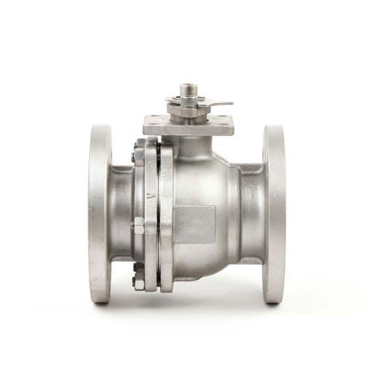 Ks JIS 10K 20K Full Bore Industry Cast Stainless Steel 2PC Teflon Floating Flange Ball Valve