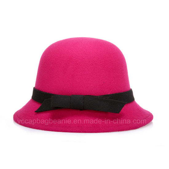Fashion Laides Fedora Wool Hat pictures & photos