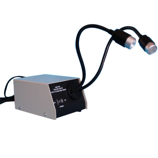 Double Gooseneck LED Spot Light for Microscope