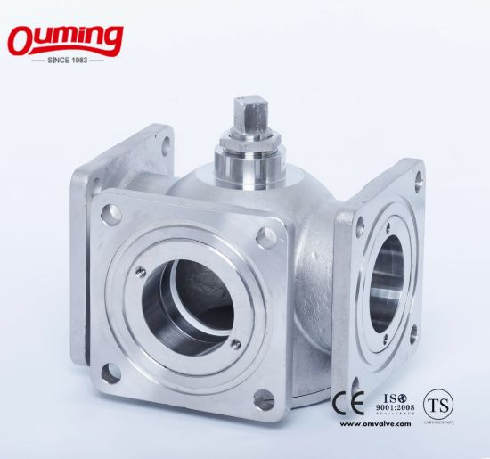 3 Way Flange Ball Valve pictures & photos