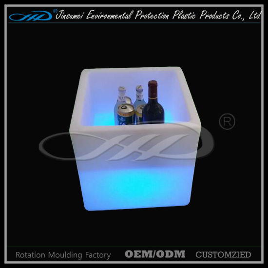 Plastic LED Furniture Ice Bucket with Cheap Price pictures & photos