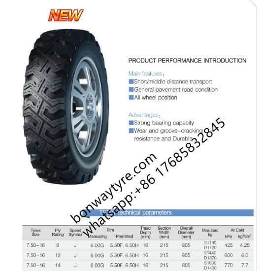 750-16-8pr Light Truck & Bus Bias Tyre for African Market pictures & photos