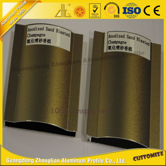 High Quality Aluminium Alloy Sand Blasted Magnate Gold pictures & photos