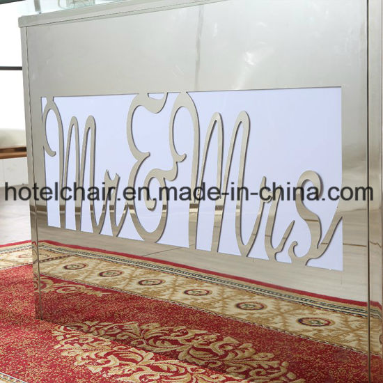 Stainless Steel with Telecontroller LED Light Rectangular Dining Table pictures & photos
