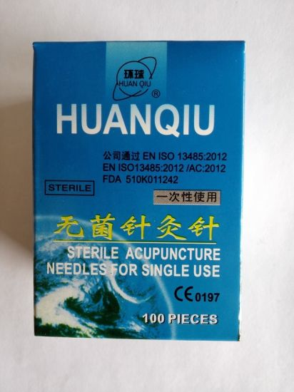 0.25X30 Acupuncture Needle with Tube, Silver Handle pictures & photos