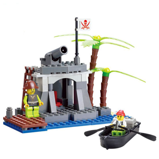 14887013-Building Blocks 128PCS Pirate Kingdoms Pirates Distribution Movie Battle Castle Bricks Educational Toys pictures & photos
