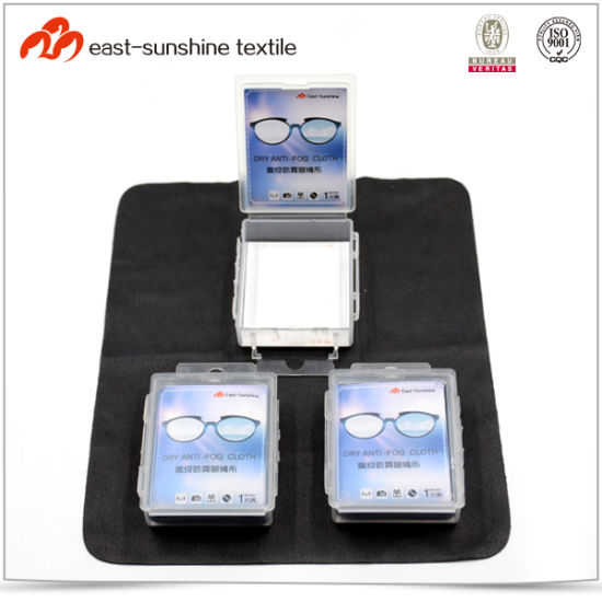 Promotional Microfiber Anti Fog Cleaning Cloth for Eyeglasses