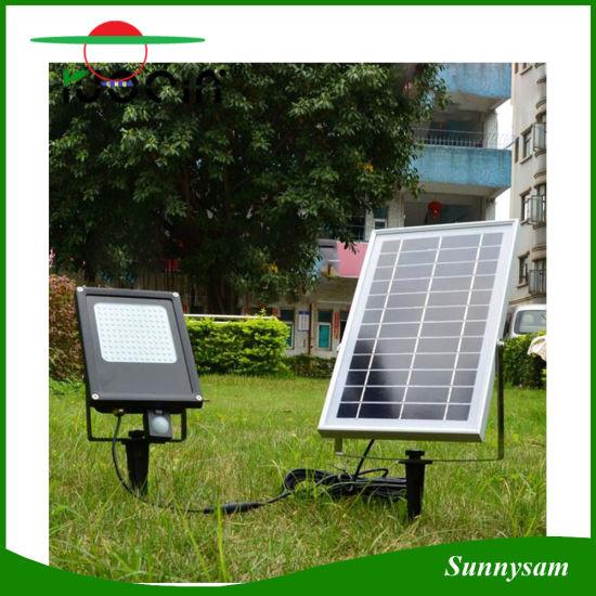 High Lumen Motion Sensor 6v 6w Waterproof Ip65 Outdoor 120 Led Solar Flood Light