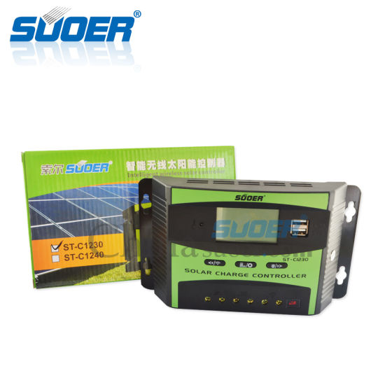 Suoer PWM Controller 12V 30A Solar Charge Controller Solar Controller (ST-C1230) pictures & photos