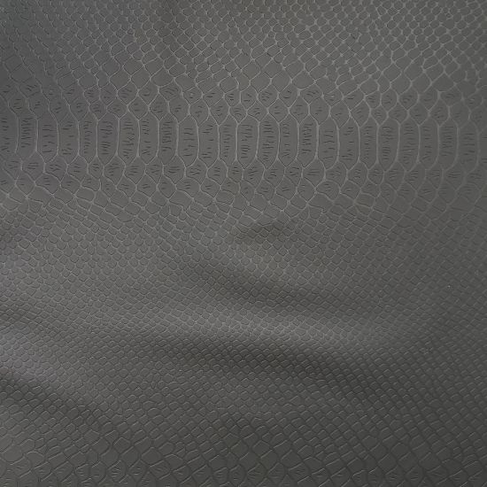 0.55 mm Thick PU Garments Leather Fabric, Poly Backing. pictures & photos