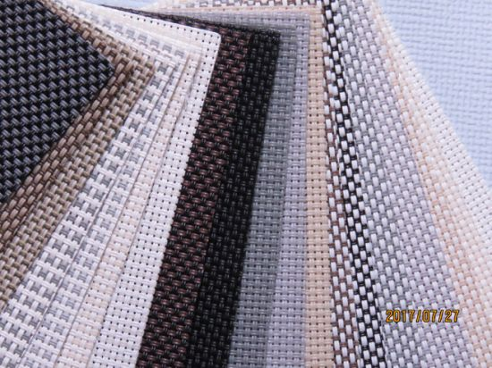 Uv Protect Fire Ant Sunscreen Fabric For Motorized Pvc Pattern Outdoor Curtain Polyester