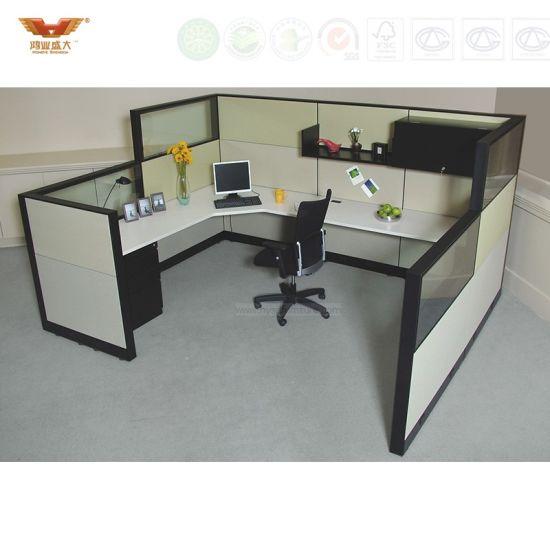 office workstation design. Wooden Office Workstation Design, Staff Table With Partition Design