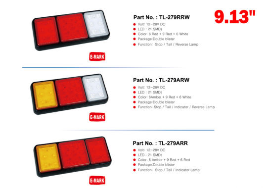 China Universal Surface Mount Led Truck Tail Lights With