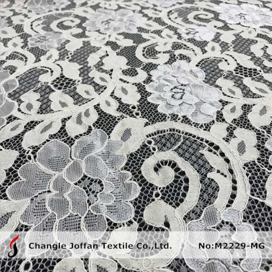 Wholesale French Lace Wedding Dress Lace Fabric (M2229-MG) pictures & photos