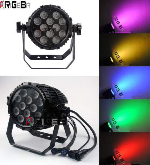 12X8w RGBW 4in1 LED PAR47 Can Light for Indoor Outdoor Stage