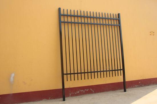 2100*2400mm Standard Through Welded Garrison Steel Security Garden Fence