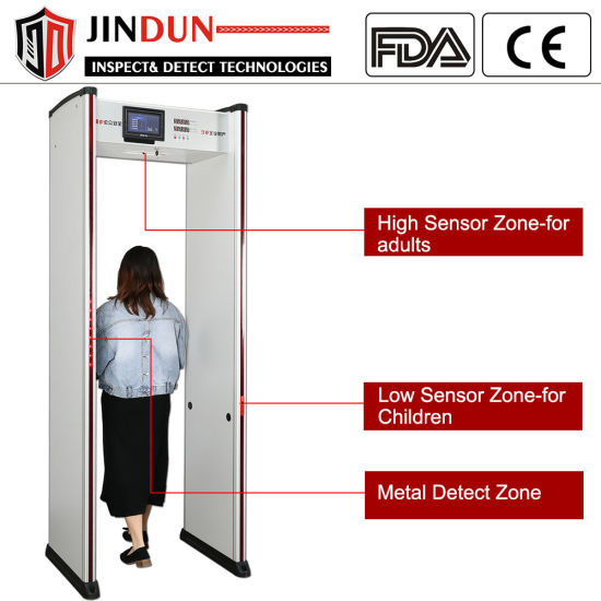 Walk-Through Infrared Human Body Auto Scanner with Metal Detector and Temperature Sensor