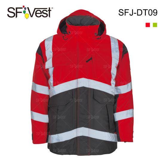 2017 Fashion Custom Winter Reflective Colorful Warning Work Waterproof High Visibility Jackets