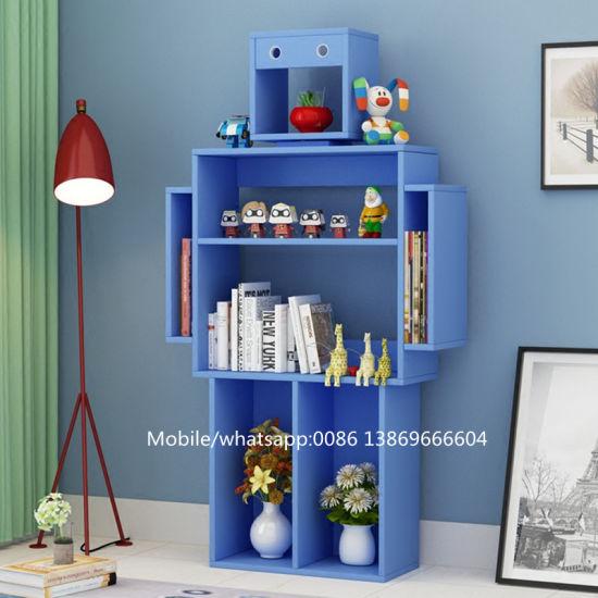 china hot sale children creative modern robot shaped bookshelf for rh shuangyi en made in china com