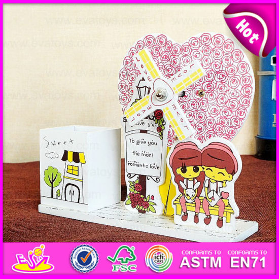 2015 Cute Kids Toy Wooden Music Box, Lovely Wooden Toy Music Box, Wholesale Wood Crafts Wooden Music Box with Pen Holder W02A036 pictures & photos
